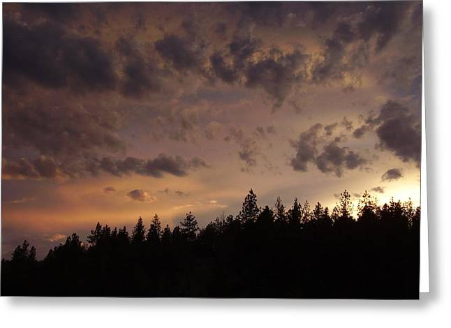 Sunset Greeting Card by Yvette Pichette