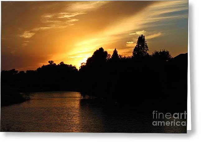 Sunsets And The Night Moving In Greeting Card by Ella Kaye Dickey