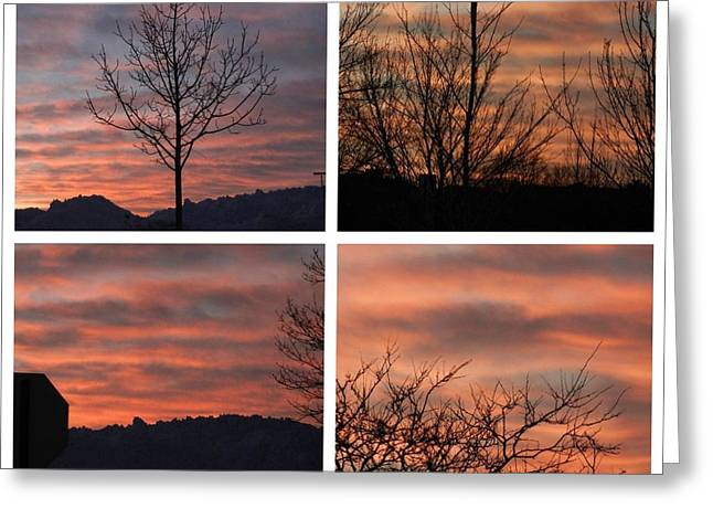 Sunsets Come In Many Colors  Greeting Card