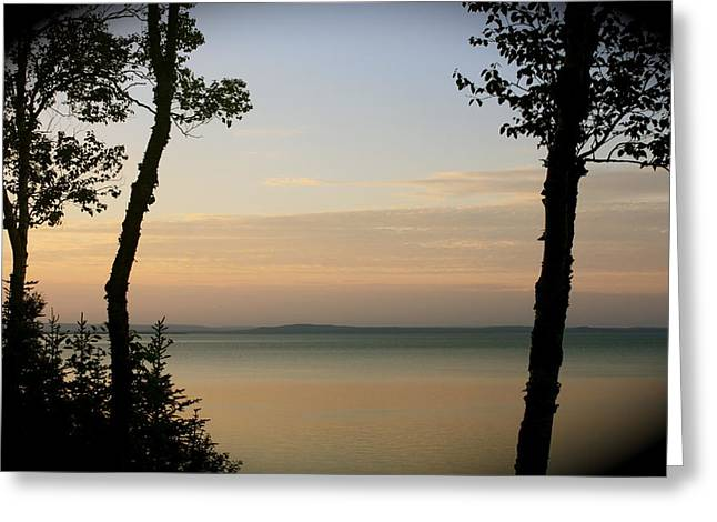 Sunsets On The Bay Of Fundy Greeting Card
