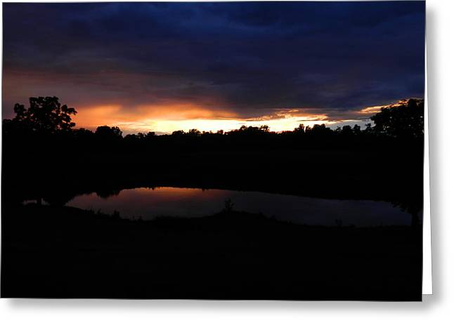 Sunsets Reflection Greeting Card by Linda Brown