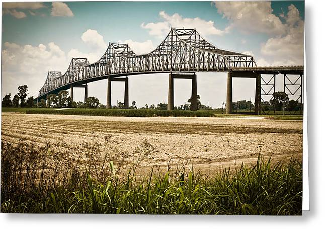 Sunshine Bridge Mississippi Bridge Greeting Card by Ray Devlin