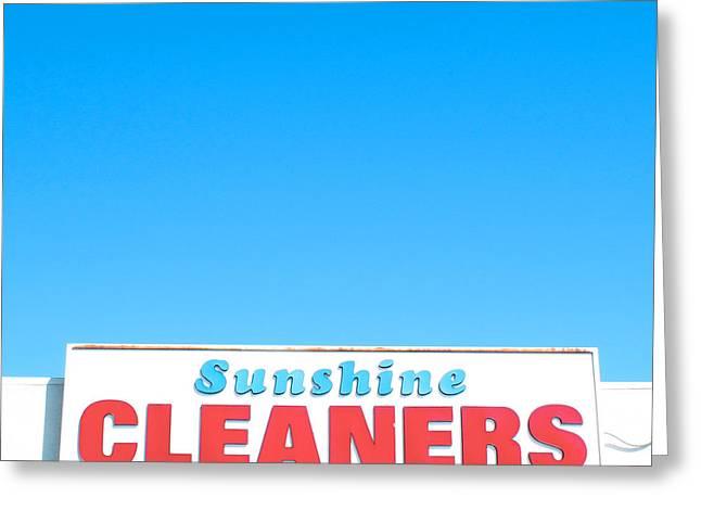 Sunshine Cleaners Greeting Card