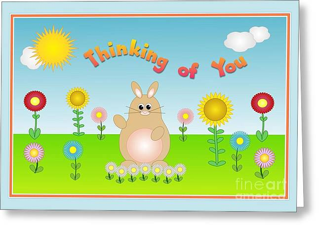 Greeting Card featuring the digital art Sunshine Day Thinking Of You by JH Designs