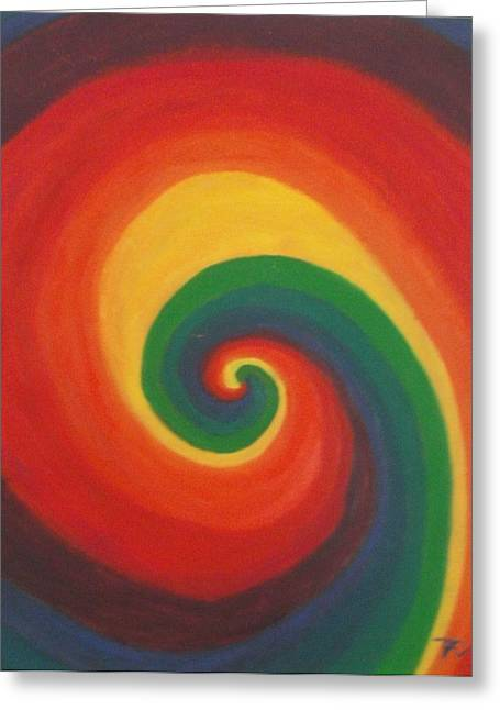 Greeting Card featuring the painting Sunshine Daydream by Thomasina Durkay