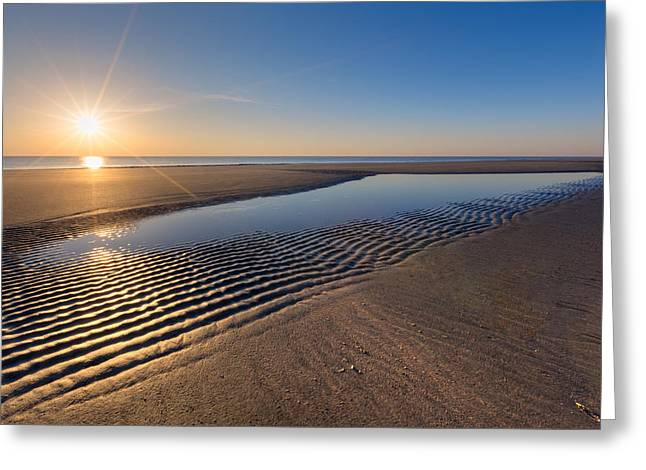 Sunshine On The Beach Greeting Card by Debra and Dave Vanderlaan