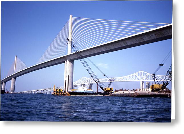 Sunshine Skyway Bridge Greeting Card by Richard Rizzo