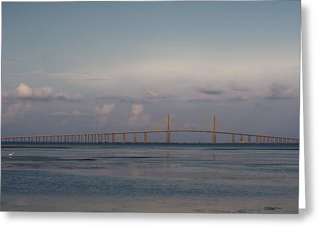 Sunshine Skyway Bridge Greeting Card by Steven Sparks