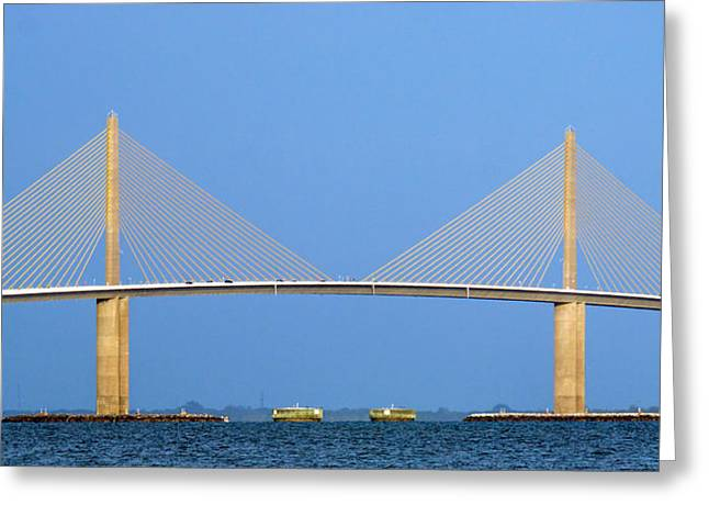 Sunshine Skyway Panorama Greeting Card