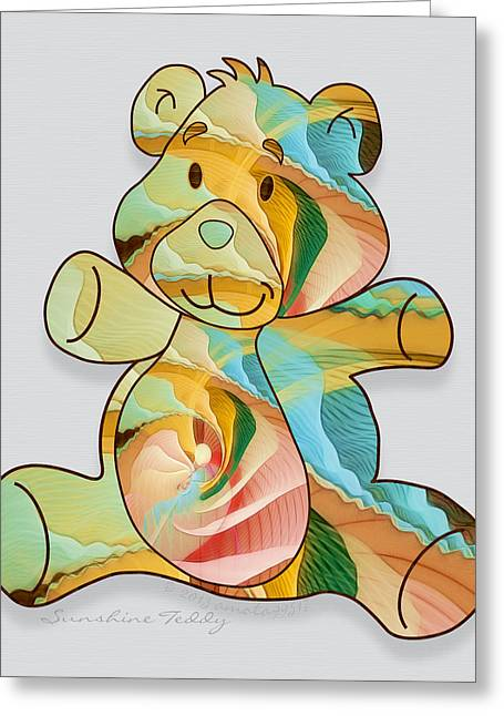 Sunshine Teddy Greeting Card by Gayle Odsather