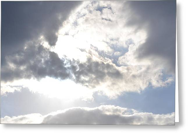 Greeting Card featuring the photograph Sunshine Through The Clouds by Tara Potts