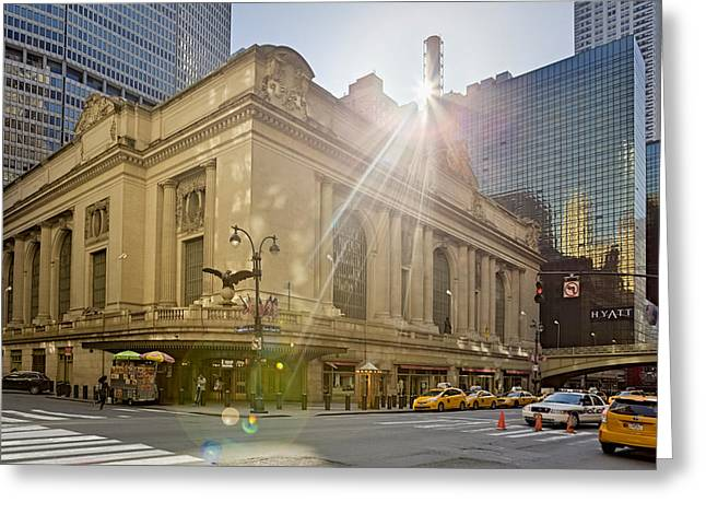 Sunrise Over Grand Central Terminal Greeting Card by Susan Candelario