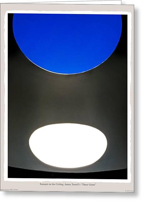 Sunspot On Ceiling James Turrells Three Gems Greeting Card