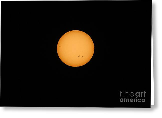 Sunspots And Solar Flares Greeting Card by Charline Xia