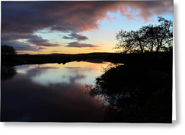 Sunsrise Over River Maine Greeting Card
