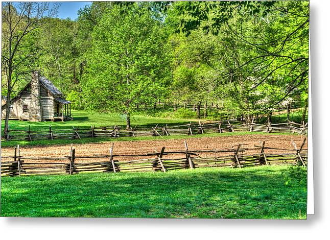 Sunup Over Pioneer Farm Greeting Card