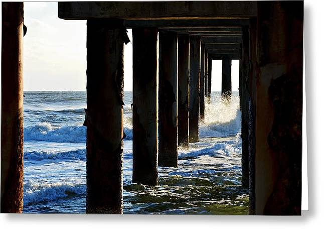 Sunwash At St. Johns Pier Greeting Card