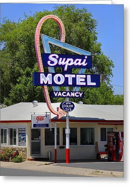 Supai Motel - Seligman Greeting Card by Mike McGlothlen