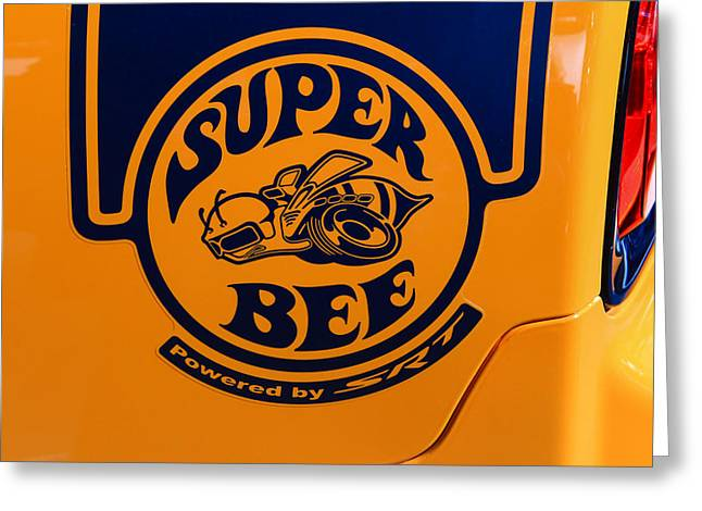 Super Bee Greeting Card by Rachel Cohen