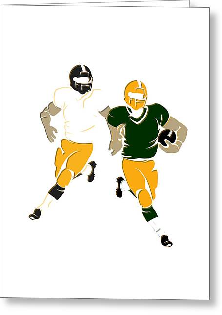 Super Bowl 45 Steelers Vs Packers Greeting Card by Joe Hamilton