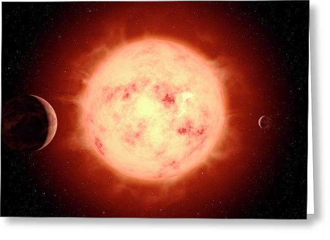 Super Earth Alien Planet Greeting Card