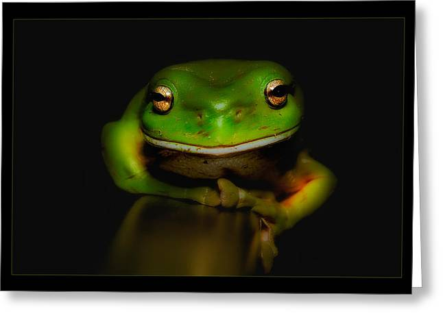 Super Frog 01 Greeting Card by Kevin Chippindall