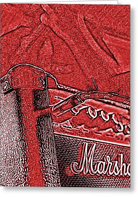 Super Grainy Marshall Greeting Card by Bartz Johnson