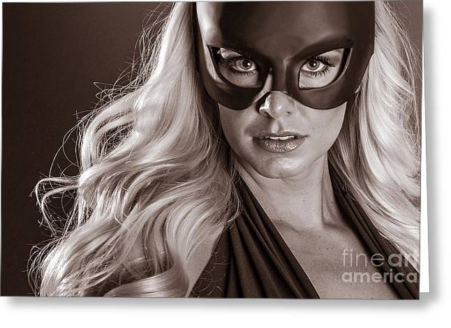 Super Hero Girl Greeting Card by Jt PhotoDesign