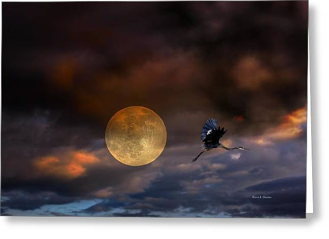 Super Moon 2013 Greeting Card by Angela A Stanton