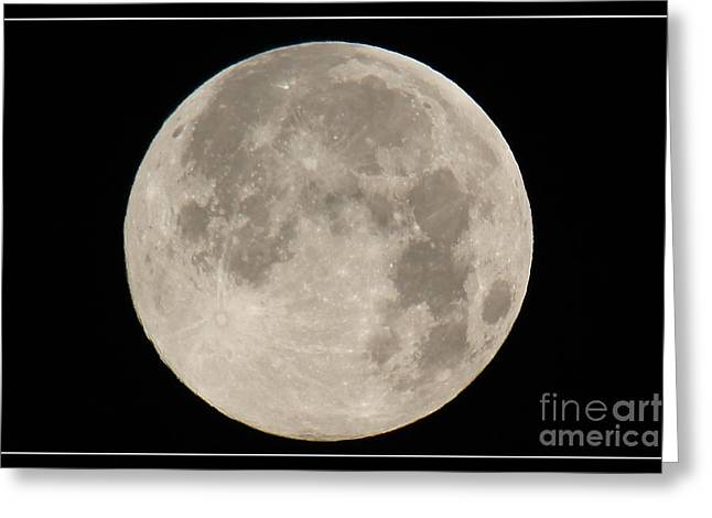 Super Moon 2013 Greeting Card by Bob Hislop