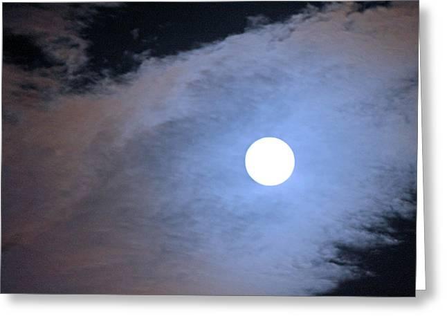 Super Moon Greeting Card by Carolyn Ricks