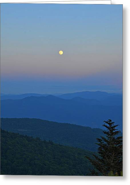 Super Moon Greeting Card by Mary Anne Baker