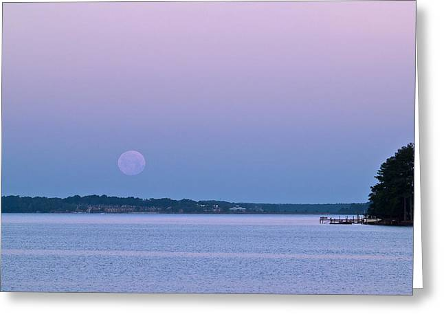 Super Moon Setting-1 Greeting Card