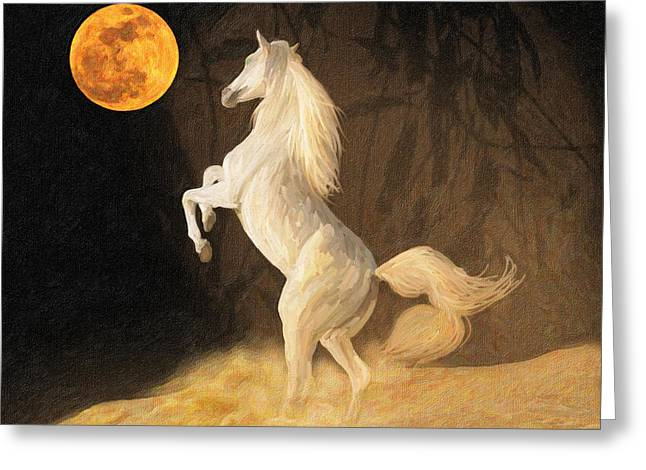 Super Moonstruck Greeting Card by Angela A Stanton