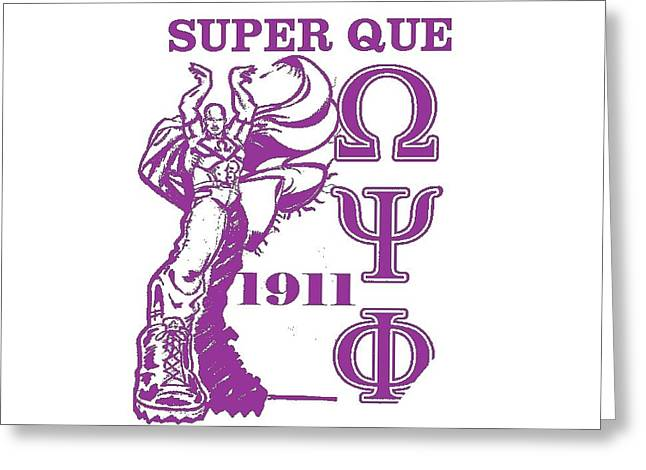 Super Que Greeting Card by Tony Curtis