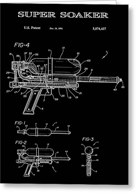 Super Soaker 2 Patent Art 1991 Greeting Card