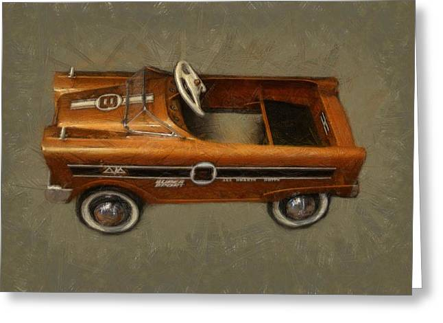 Super Sport Pedal Car Greeting Card