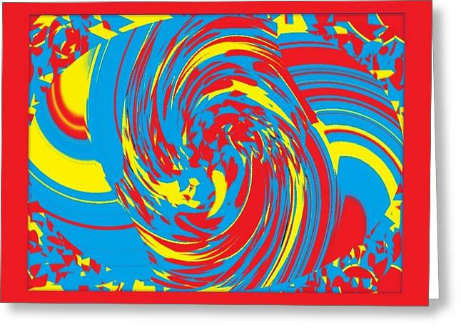 Greeting Card featuring the painting Super Swirl by Catherine Lott