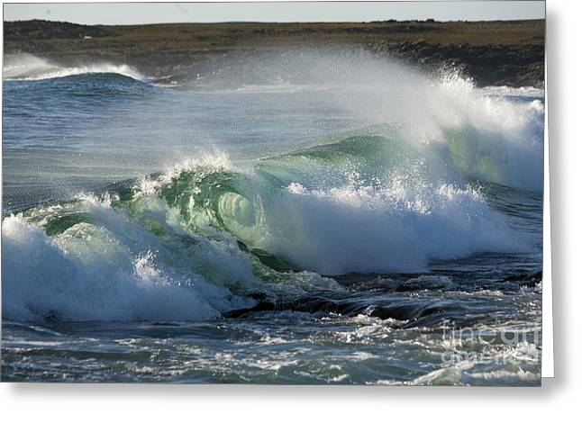 Super Wave At The Barents Sea Coast Greeting Card by Heiko Koehrer-Wagner