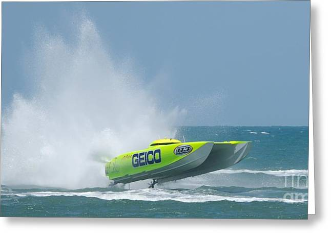 Superboats - Miss Geico Greeting Card