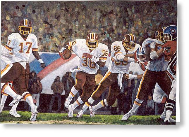 Superbowl Xii Greeting Card by Donna Tucker