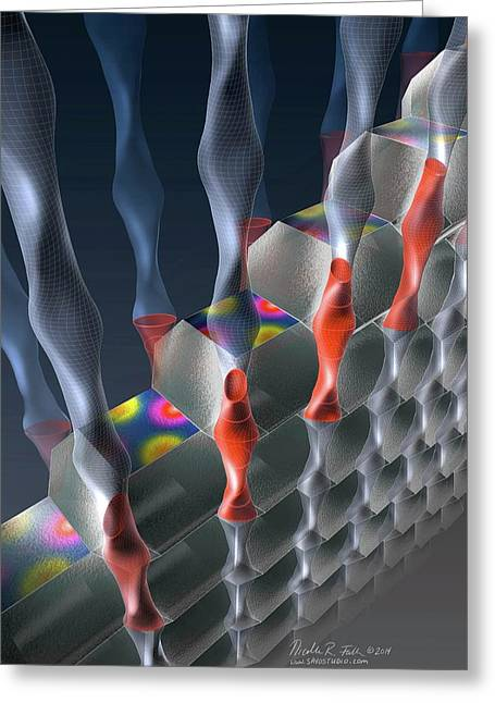 Superconductor Lattice Electrons Greeting Card by Nicolle R. Fuller