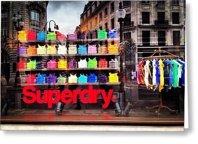 Superdry. Greeting Card by Carly Athan