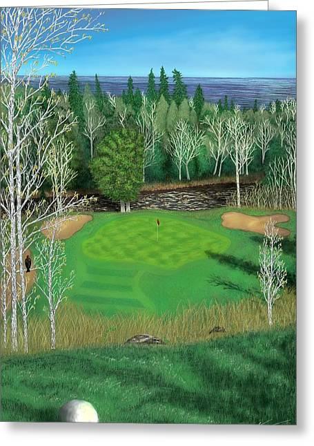 Superior National Golf Canyon 8 Greeting Card