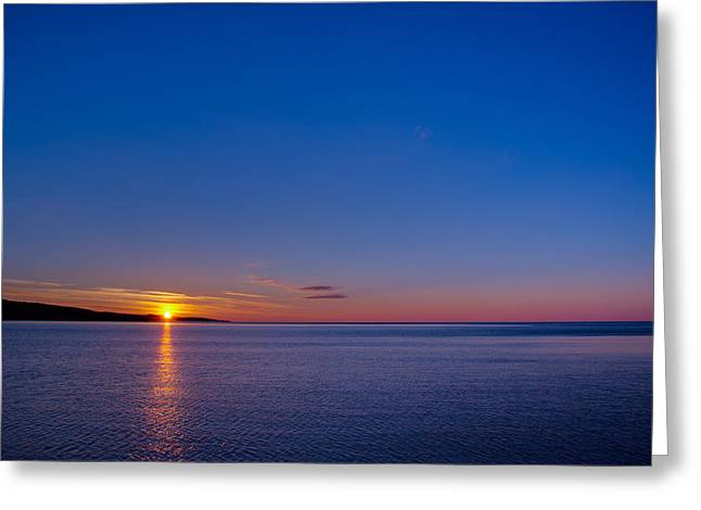 Greeting Card featuring the photograph Superior Sunrise by Adam Mateo Fierro