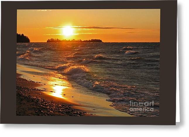 Superior Sunset Greeting Card by Ann Horn