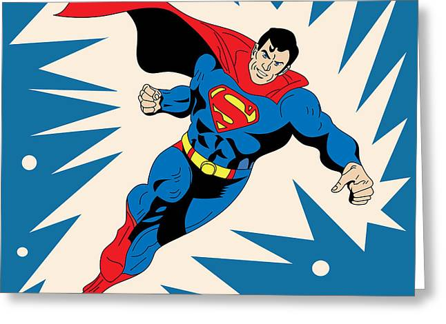 Superman 8 Greeting Card by Mark Ashkenazi