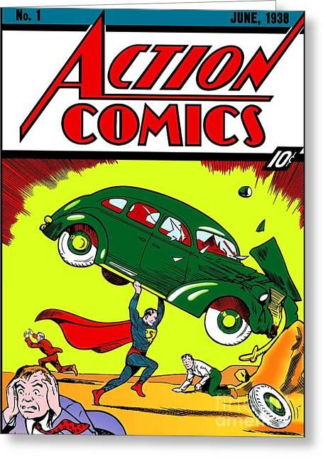 Superman Comic Book -1938 Greeting Card by Doc Braham