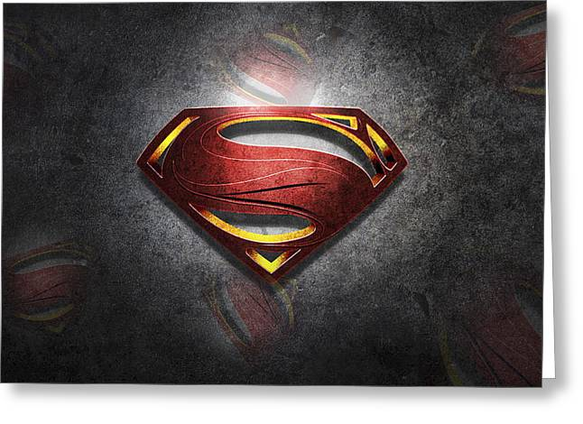 Superman Man Of Steel Digital Artwork Greeting Card