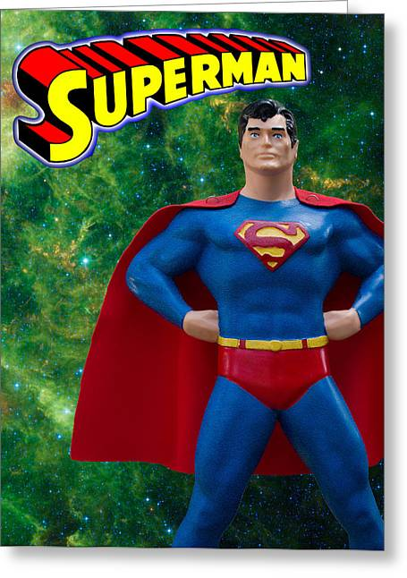 Superman Poster Redux Greeting Card by William Patrick